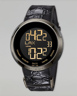 Gucci I-Gucci Digital Watch, Black