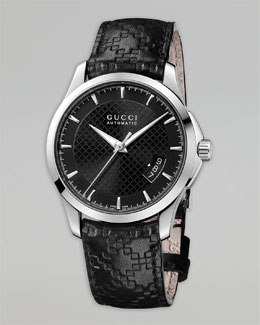 Gucci Diamante Auto Watch & Leather Strap