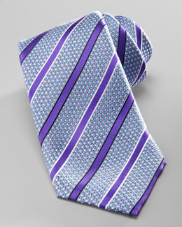 Ermenegildo Zegna Striped Silk Tie, Purple