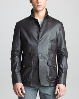 Giorgio Armani Perforated Leather Jacket