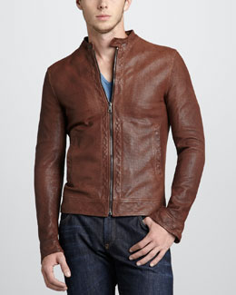Dolce & Gabbana Perforated Leather Jacket