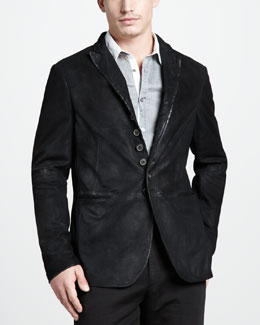 John Varvatos Distressed Suede Jacket