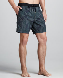 John Varvatos Camo Thunder Swim Trunks