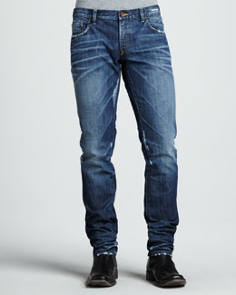 Dolce & Gabbana Distressed Dark Jeans