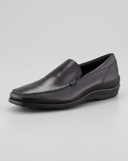 Tod's Venetian Driver-Sole Loafer, Black