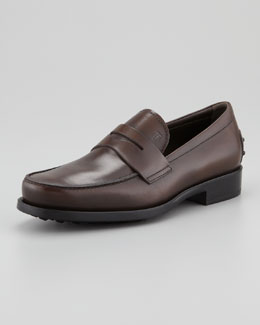 Tod's Driver-Sole Penny Loafer, Brown