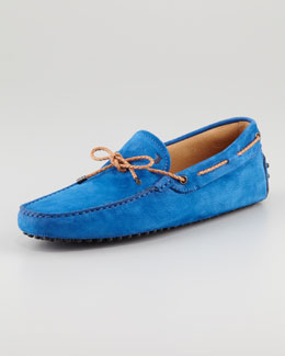Tod's Suede Tie Driver, Blue Flash