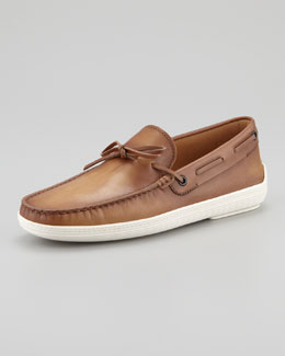 Tod's Leather Boat Shoe, Brown