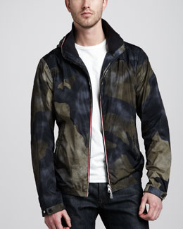 Moncler Packable Hooded Camo Jacket