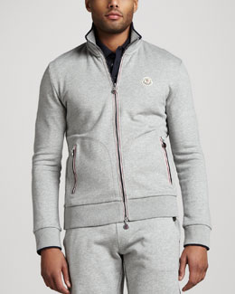 Moncler Flag-Trim Track Jacket
