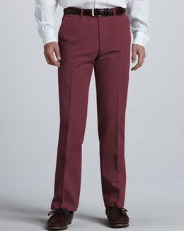 Loro Piana Straight Cotton-Linen Pants