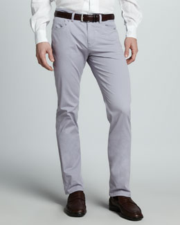 Loro Piana Delave Five-Pocket Pants, Purple