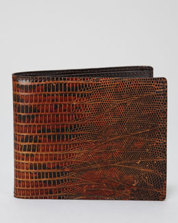 Tom Ford Lizard Bi-Fold Wallet, Brown