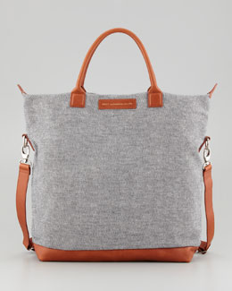 WANT Les Essentiels de la Vie O'Hare Men's Canvas Tote Bag, Check/Cognac