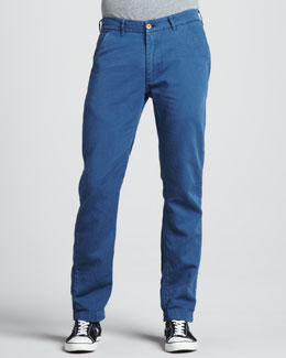 Levi's Made & Crafted Spoke Cotton/Linen Chino Pants, Ensign Blue