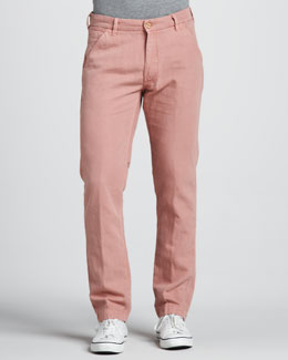 Levi's Made & Crafted Spoke Cotton/Linen Chino Pants, Pink