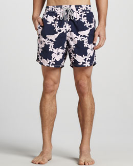 Vilebrequin Moorea Printed Swim Trunks