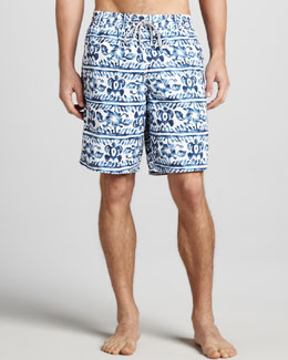Vilebrequin Okoa Striped Turtle Boardshorts