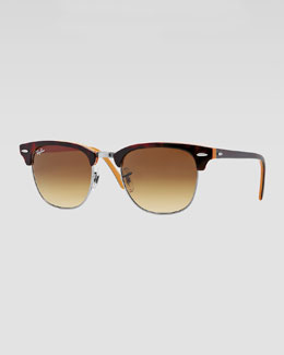 Ray-Ban Clubmaster Sunglasses, Dark Tortoise/Orange