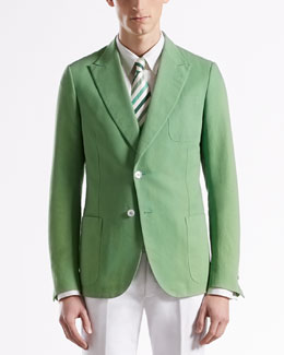 Gucci Washed Canvas Dandy Jacket