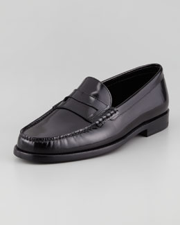 Saint Laurent Classic Penny Loafer, Black