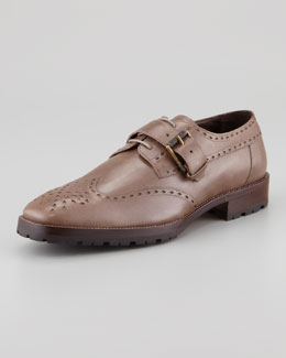 Belstaff Rushmore Monk Strap Lug-Sole Brogue