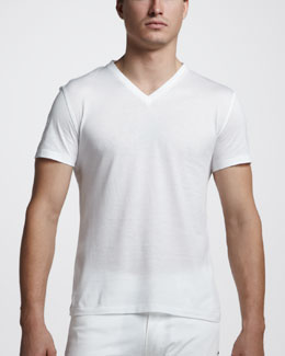 Ralph Lauren Black Label V-Neck Tee, Pure White