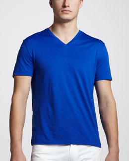 Ralph Lauren Black Label V-Neck Tee, Diplomat Blue
