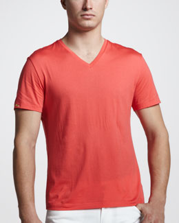 Ralph Lauren Black Label V-Neck Tee, Racing Red