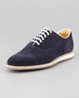Church & Co. Limited Hirst Suede Lace-Up Oxford, Navy