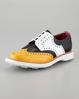 Church & Co. Limited Farthington Patent Wing-Tip Oxford, Black/Yellow