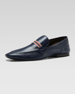 Gucci Soft leather Moccasin, Navy