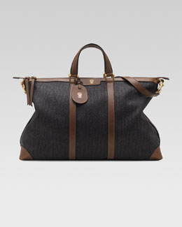 Gucci Raffia Top-Handle Duffel Bag