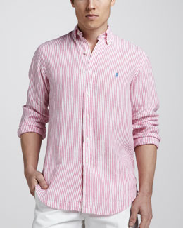 Polo Ralph Lauren Striped Linen Sport Shirt