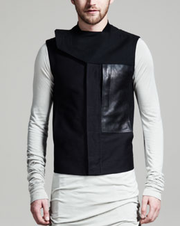 Rick Owens Short Jungle Vest, Black