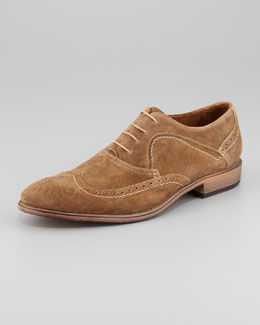 John Varvatos Richards Suede Wing-Tip