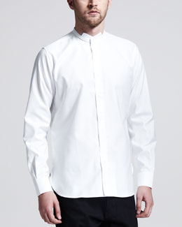 Saint Laurent Long-Sleeve Evening Shirt, White