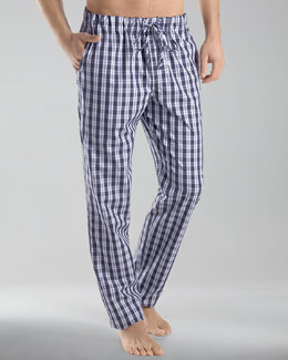 Hanro Clifford Woven Plaid Pajama Pants