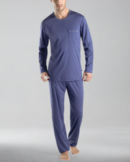 Hanro Clifford Knit Long-Sleeve Pajamas