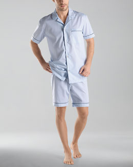 Hanro Connor Short Woven Pajama Set