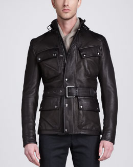 Belstaff Circuitmaster Four-Pocket Leather Jacket