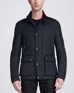 Belstaff Pathfield Tech Quilted Jacket, Ink Blue