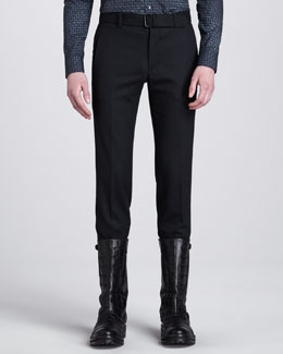 Belstaff Remston Slim Trousers, Dark Gray