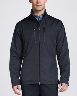 Zegna Sport Tech Field Jacket, Navy