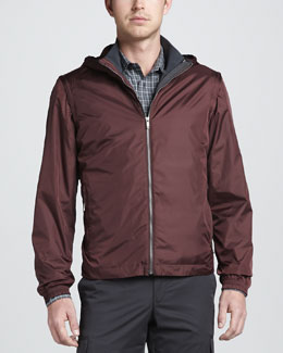 Zegna Sport 4-in-1 Light-Shell Tech-Fabric Jacket