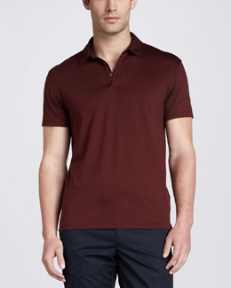 Zegna Sport Short-Sleeve Jersey Polo, Red