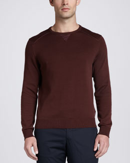 Zegna Sport Crewneck Sweatshirt, Red