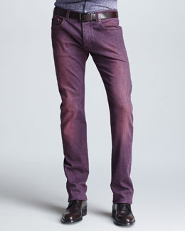 Etro Dyed Denim Jeans, Purple