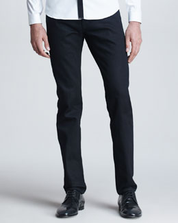 Burberry Prorsum Five-Pocket Denim Trousers, Black