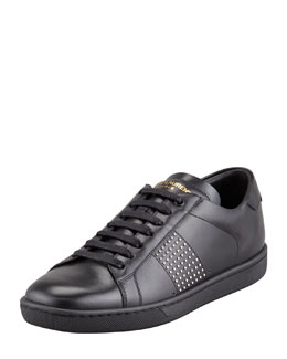 Saint Laurent Saint Laurent Studded Sneaker, Black